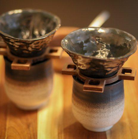 Porcelain/Wood Pour Over