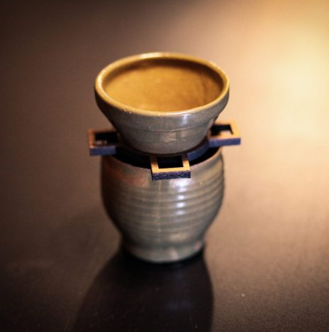 Bespoke Ceramic and Walnut Pour Over – Green